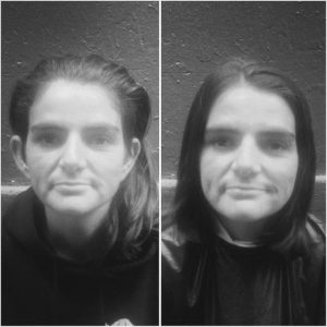 Une cliente du Barbier des Rues