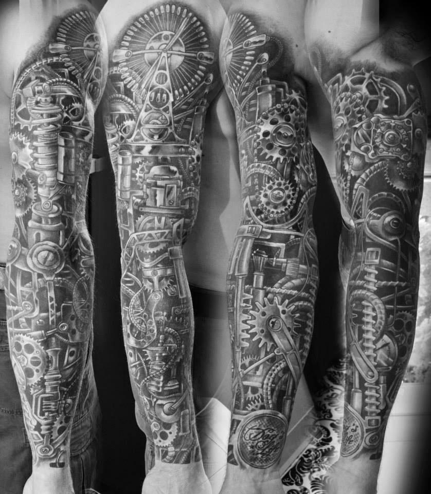 style,de,tatouage,biomecanique