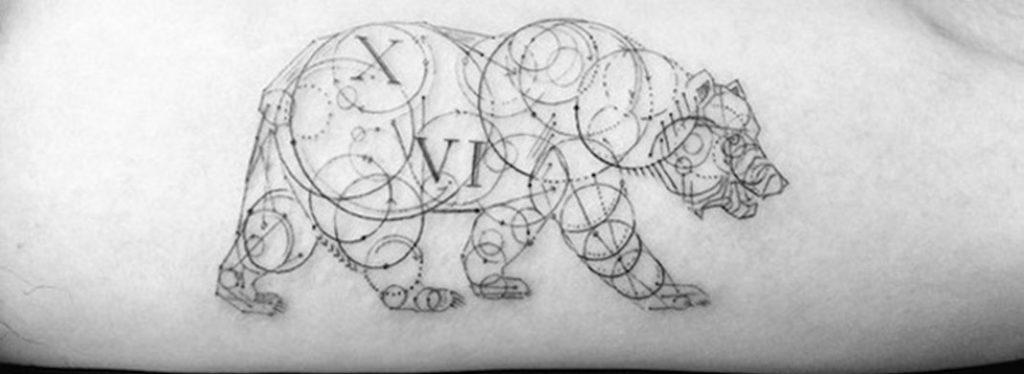 tatouage-graphique-geometrique-ours