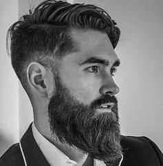 Barbe lisse et élégante