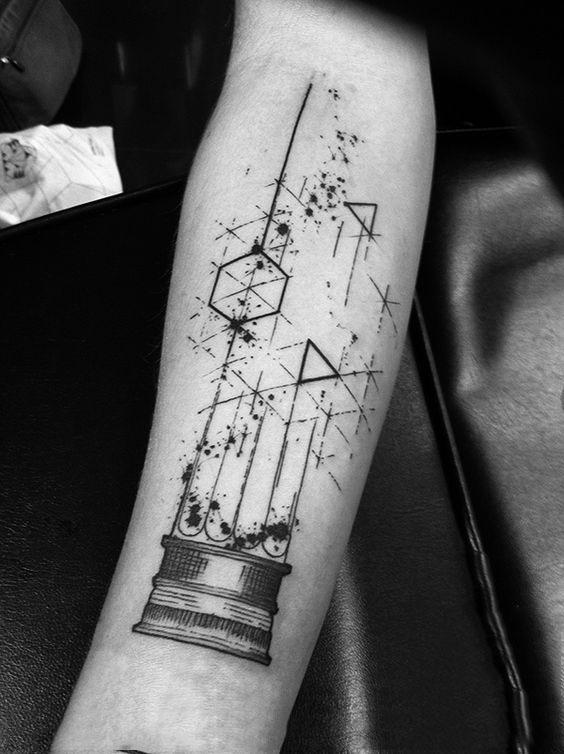 tatouage,graphique,bras