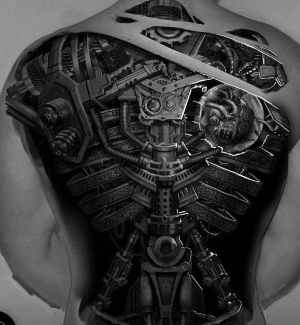 tatouage,biomecanique,dos