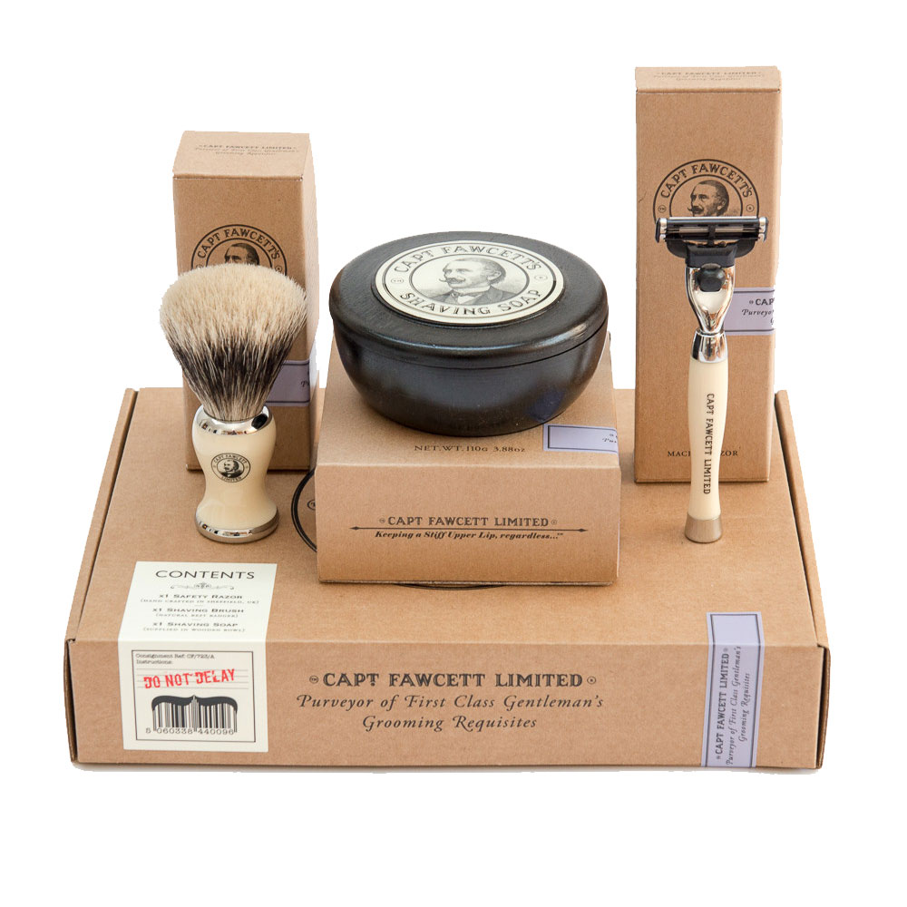 coffret rasage homme captain fawcett la barbe a papa. Black Bedroom Furniture Sets. Home Design Ideas
